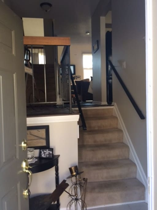 Steps from foyer to main level