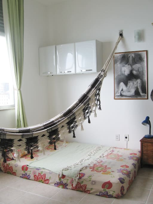Hammock and bed area.