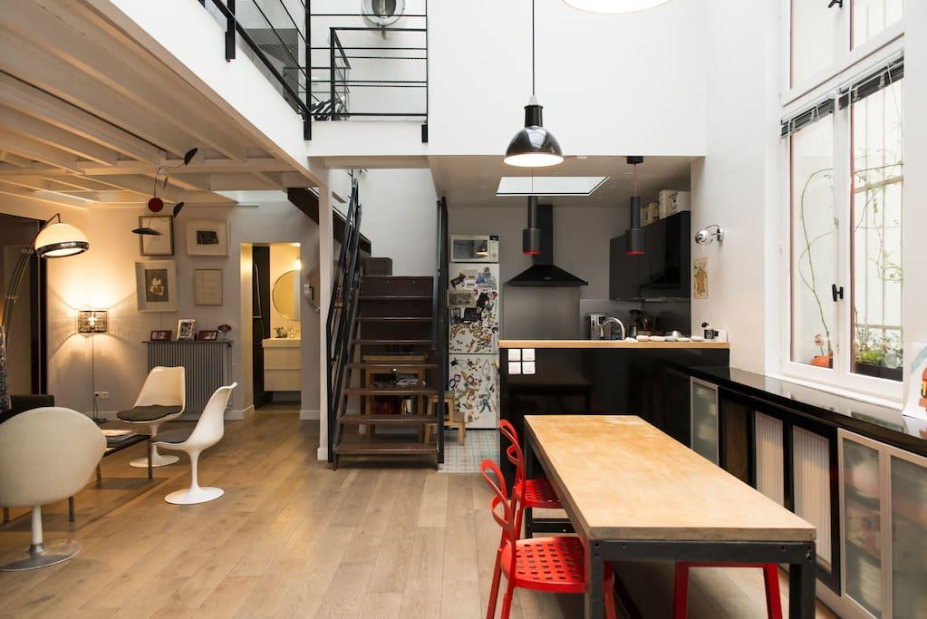 Maison loft au calme en plein paris appartements louer paris le de fr - Achat loft ile de france ...