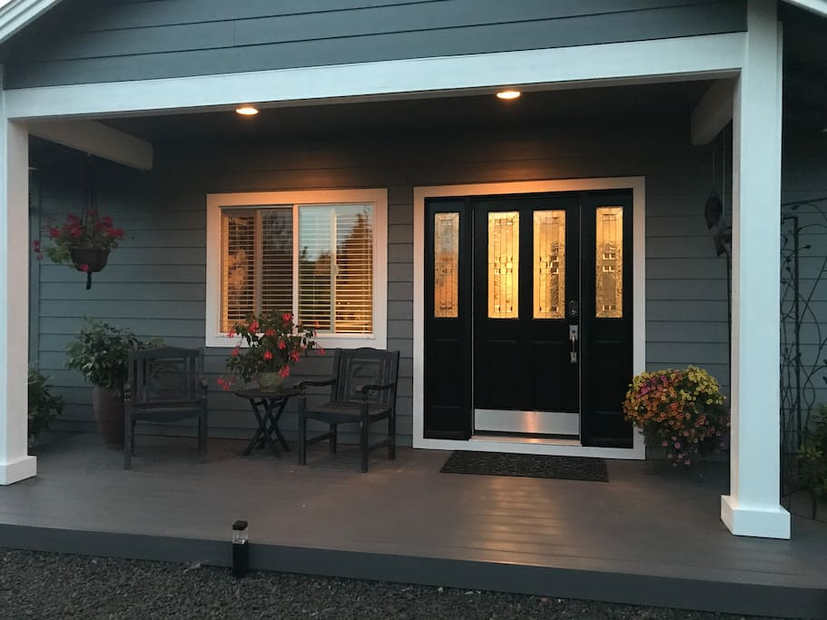 Private entrance with own porch
