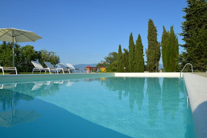 Apartment with pool Chianti hills - Greve in Chianti  - Lejlighed