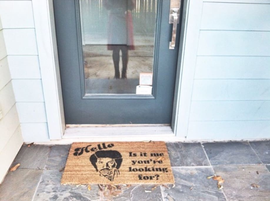 Lionel greets you at the front door.