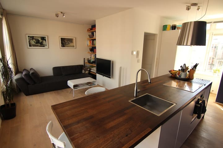 Stylish 4p apartment with big sunny roof terrace - Amsterdam - Apartemen
