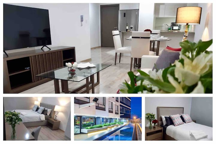Luxury 2 BR Apartment w Pool, Gym & View in Quito