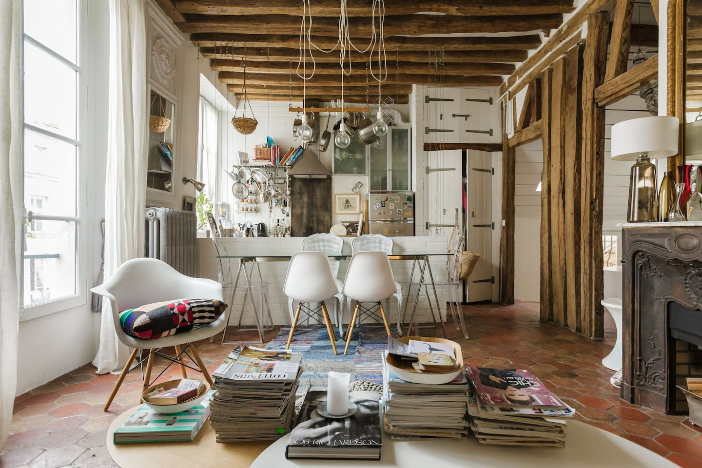 Dream apartment to stay in Paris according to the famous ELLE magazine