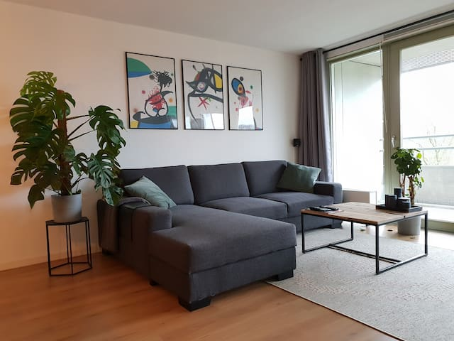Big couch with chaise longue