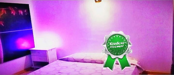 Double Room  🍒Strawberry+Private shower 50mBeach