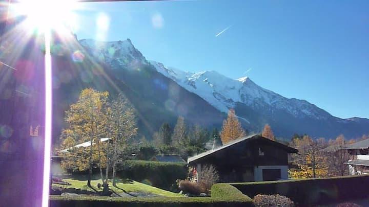 Studio avec vue sur le Mont Blanc