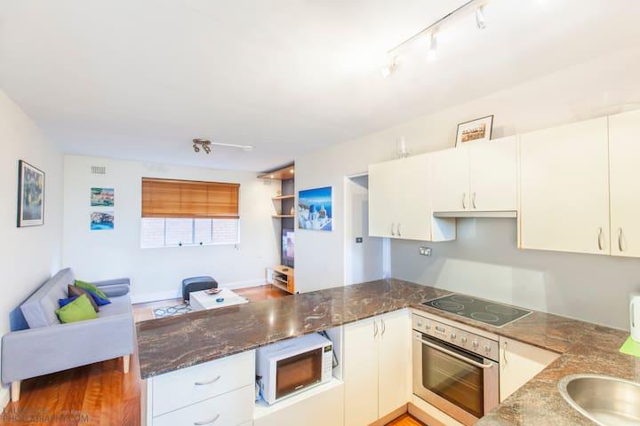 Modern beach 'home away from home' apartment