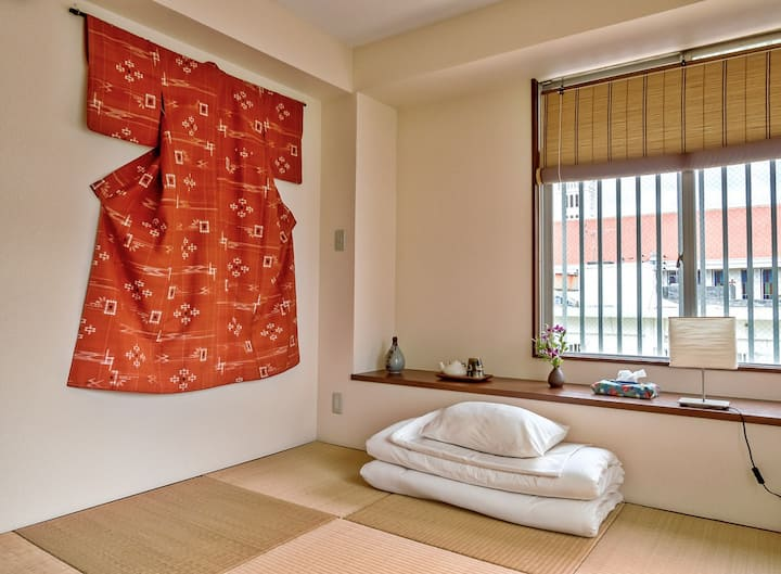 Ryukyu-style Room with balcony B&B. Lovely terrace