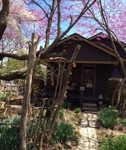 Straw bale bungalow, private 2BD/ba - Bloomington - Bed & Breakfast