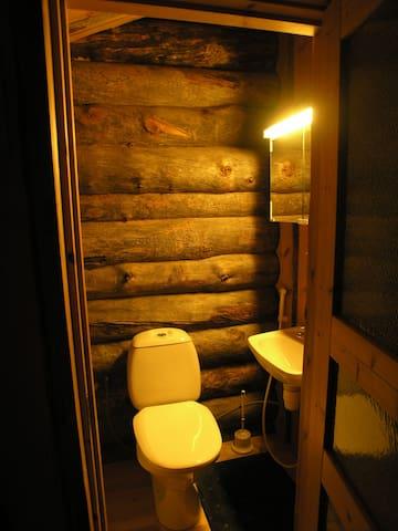 Toilet in the cabin.