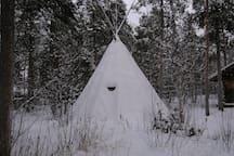 Traditional Sami dwelling.