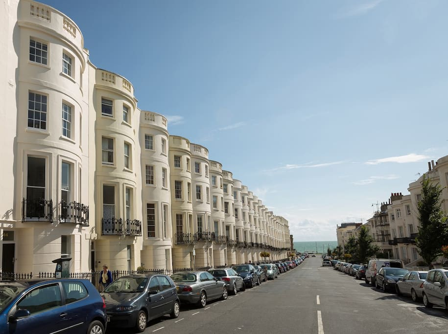 Lansdowne Place Villa 4 Star self catering Large Group accommodation Luxury self catering front of property. Central Beach location Brighton Hove