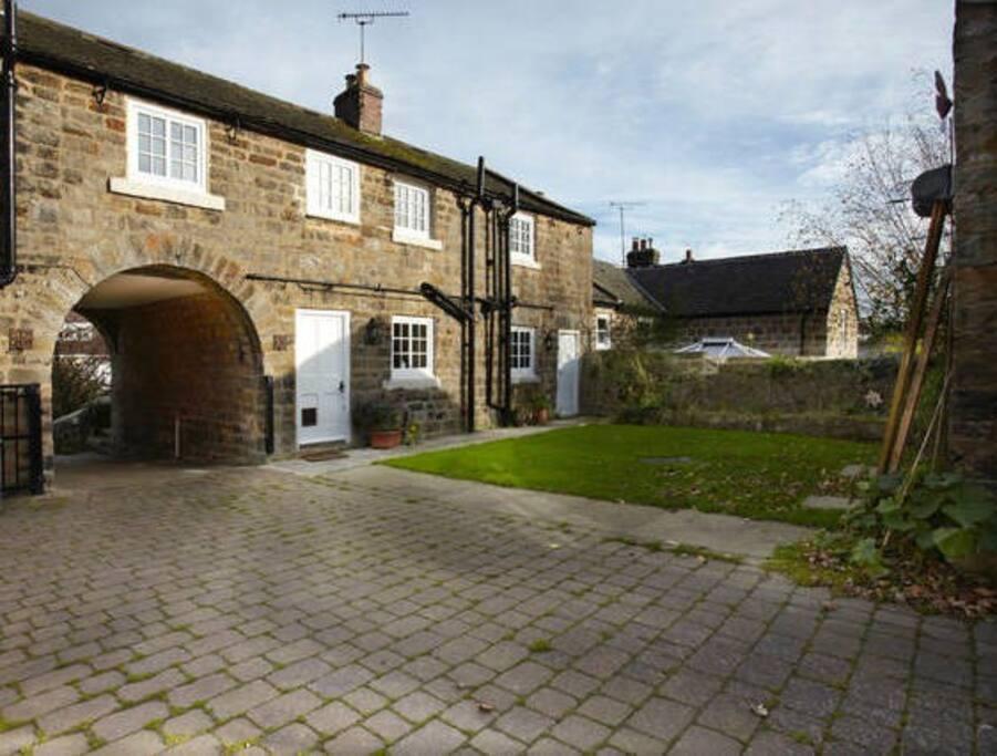 Quiet cottage courtyard