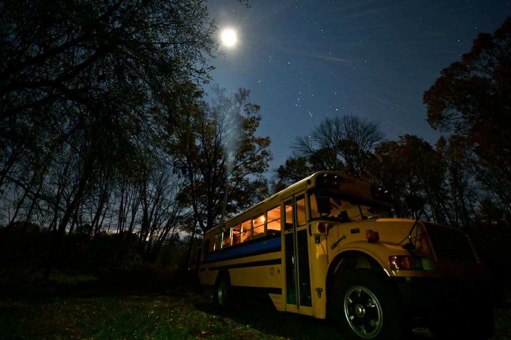 Cozy School Bus Conversion Tiny Houses For Rent In
