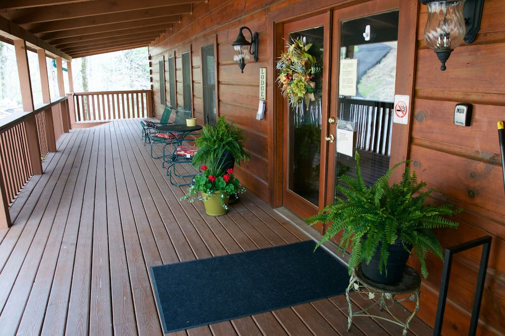 Our lodge is spotlessly clean and meticulously maintained inside and out