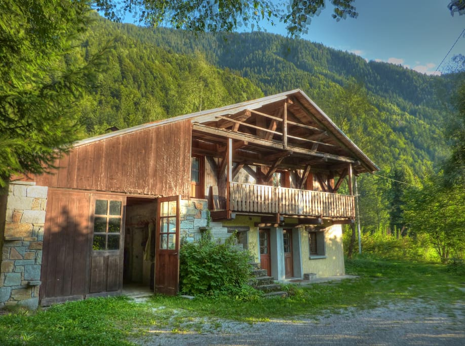 The apartment is part of a individual chalet. The Apartment is entirely self contained from the main chalet. Just the Garage area is shared. The exterior of the chalet is traditionally Savoyard. Ample parking in front of the property which is not overlook