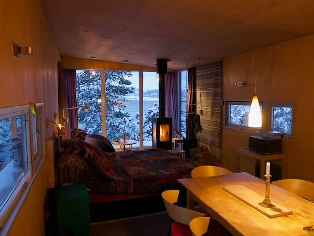 Modern cabin with a view to die for - Skibotn - 통나무집