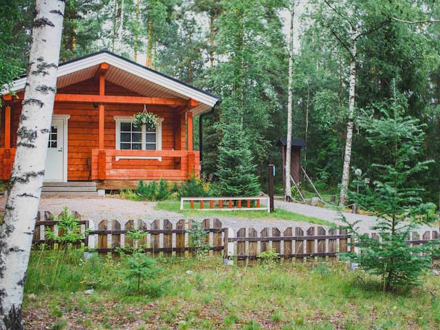 Kettu cabin at Fish & Fun holiday village