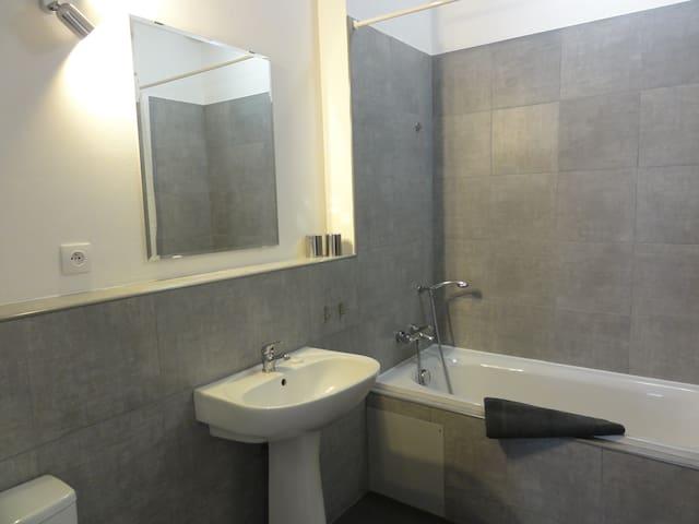 la salle de bain (baignoire)
