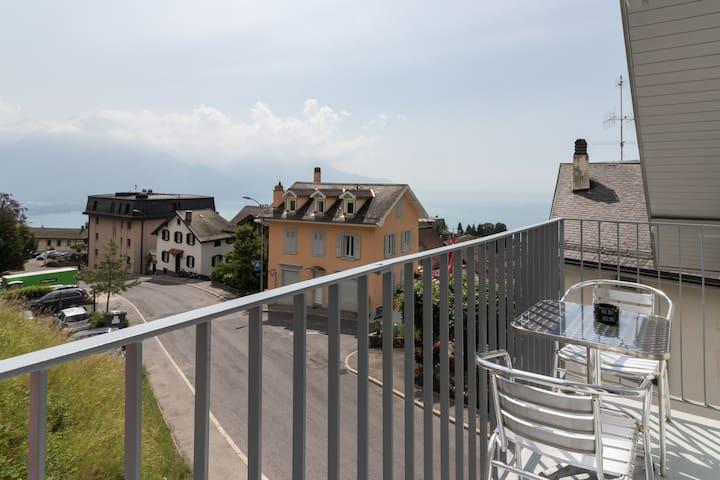 New Design Flat 70m2, view mountain/lake, 6 person