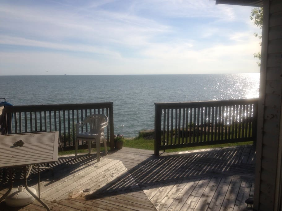 Large back deck
