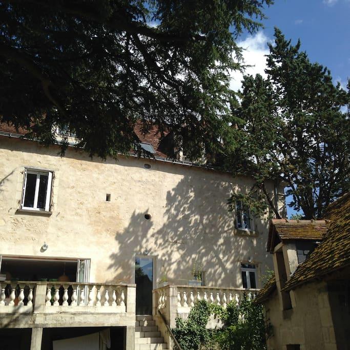 Maison de maître et la terrasse