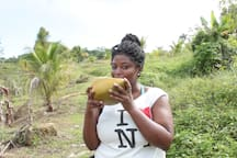 You can take a tour of Wolsey's Farm just down the road from the house and have fresh coconut water/jelly, june plums, sugar cane and pick fresh nutmeg to carry home with you.