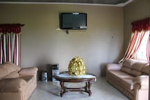 Relax in the living room and enjoy cable tv