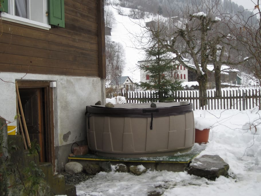 the whirlpool for up to 4 persons