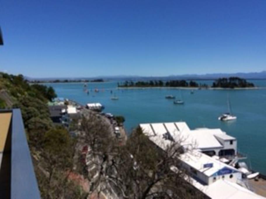 Relax watching harbour activities