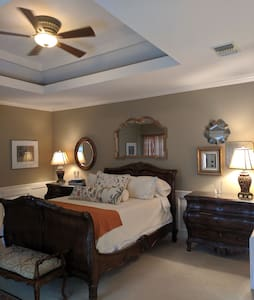 Private master suite w/private entrance & den ...