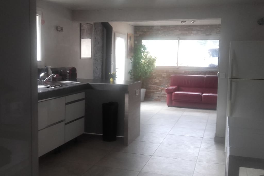 Séjour cuisine de 45 m2