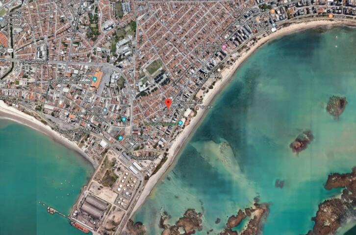 Qto 100m praia pajuçara c 4 camas solteiro/ar cond