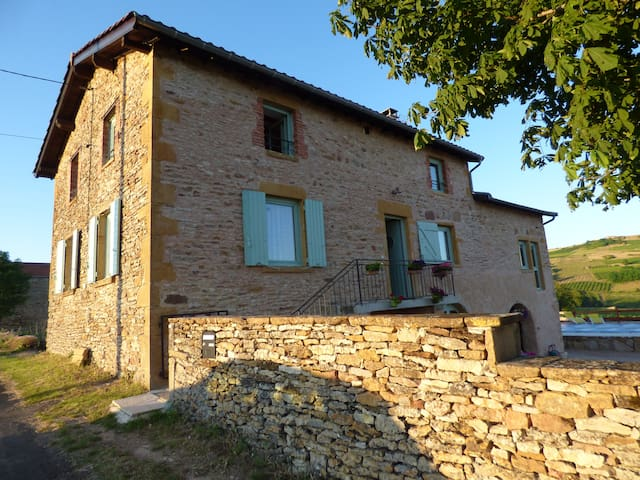 2 ROOMS IN THE HEART OF BEAUJOLAIS - Saint-Laurent-d'Oingt - Casa