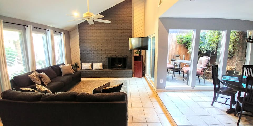 Updated Plano home w/two private patios & pool