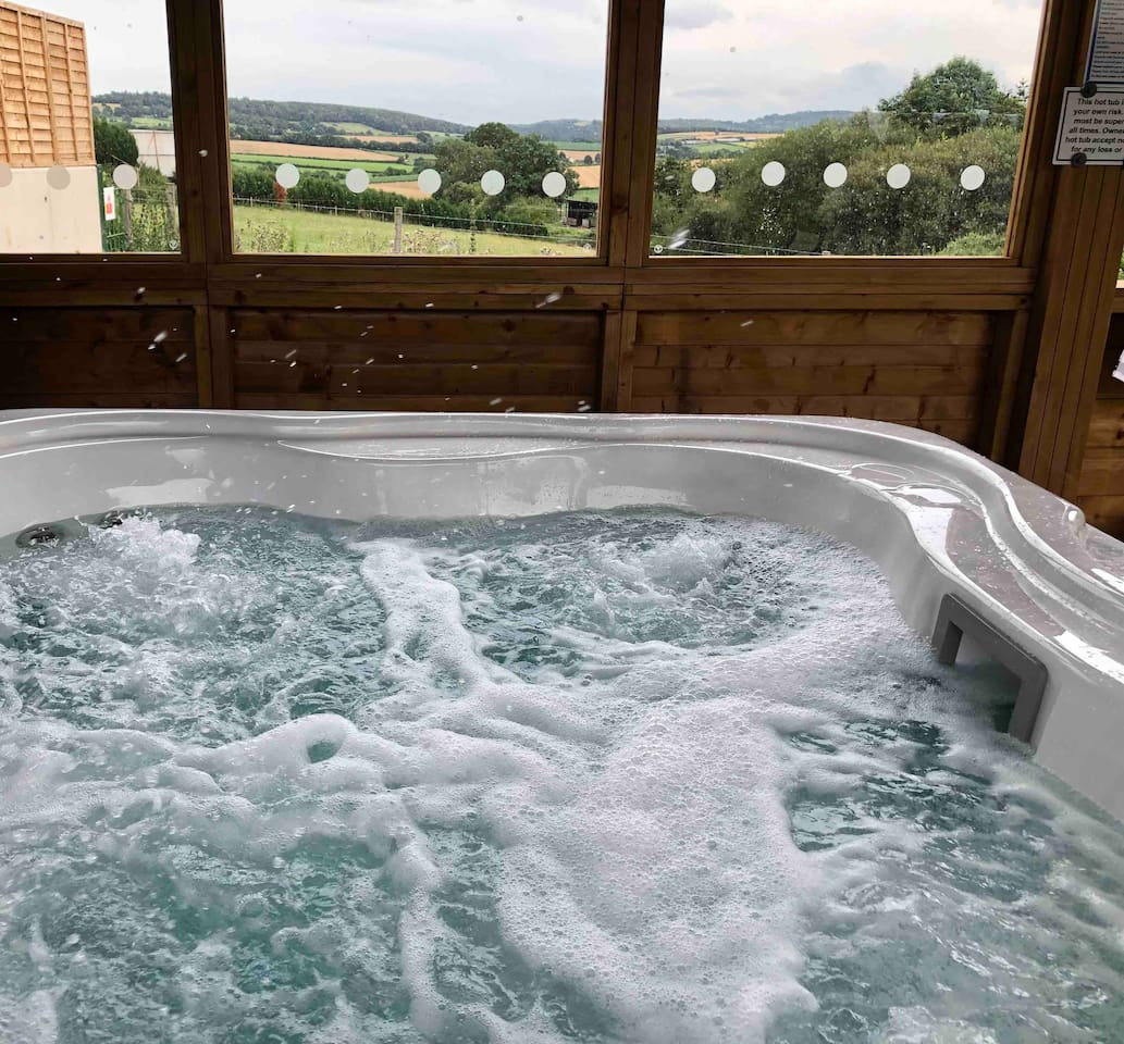 Willow Lodge has exclusive use of our Jacuzzi Hot Tub. Climb in and relax.