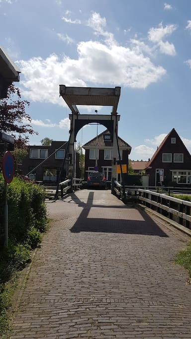 "The village is build on a island. This drawbridge is the connection with ""Het Kalf"""
