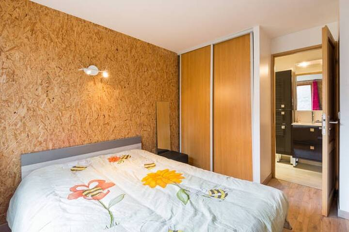 Chambre/SDB privée - Grande Maison - Lyon - Hus