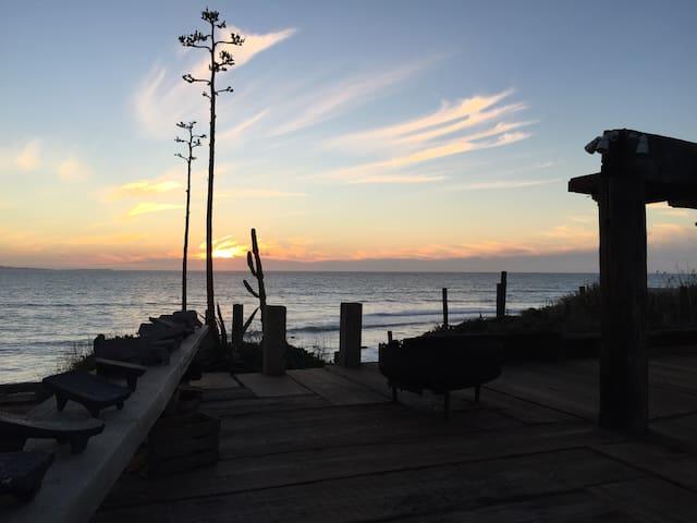 Ocean front surfing studio