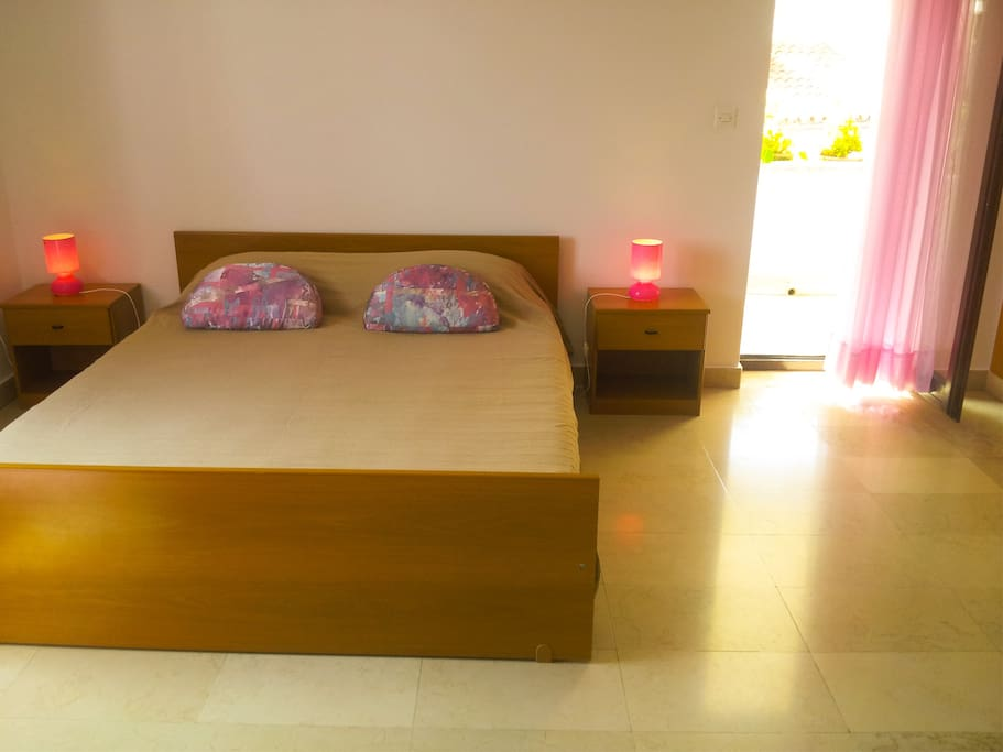 Double bed and terrace