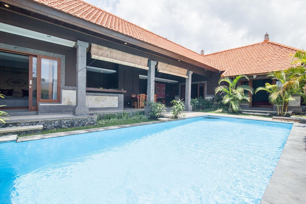The villa has its own private swimming pool.