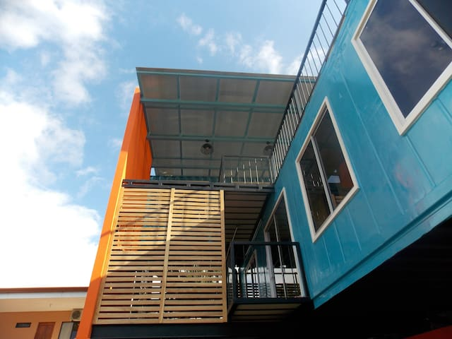 Shipping containers beach apart: Wander Asia