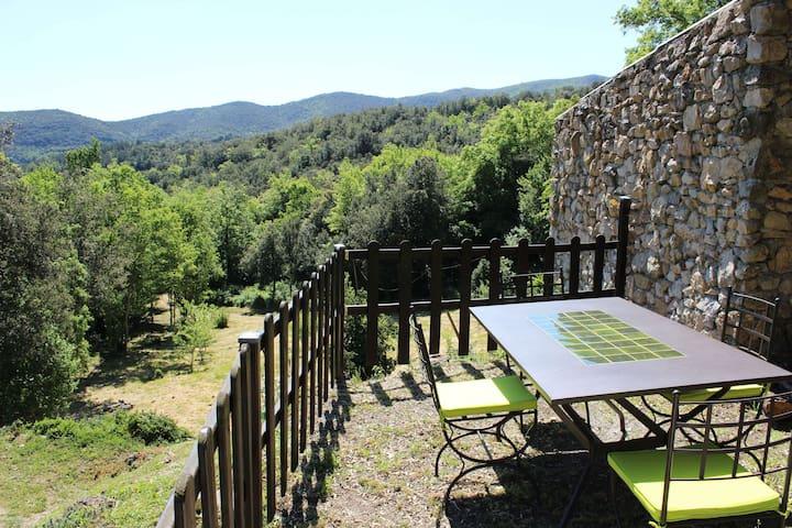 Gite  WIFI jolie vue jardin Aude Pays Cathare - Laroque-de-Fa