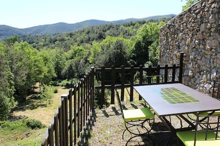 Gite  WIFI jolie vue jardin Aude Pays Cathare - Laroque-de-Fa - House