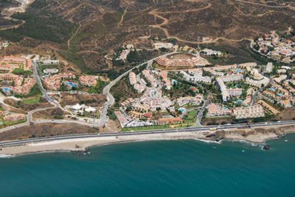 Vista aerea desde el mar