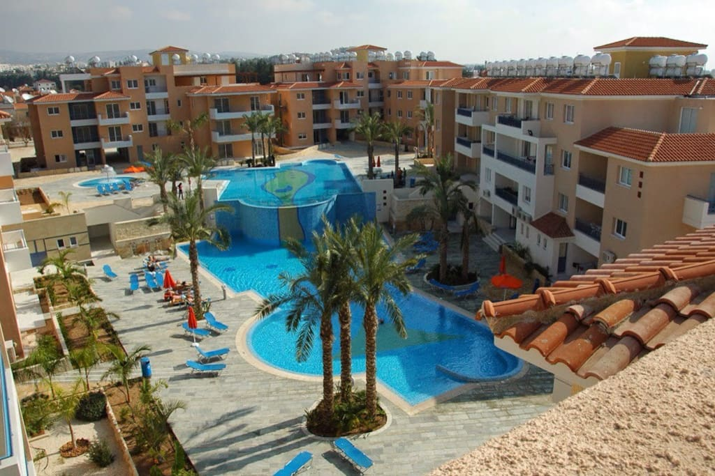Iris Village Complex has 2 large pools both with Jacuzzi and waterfall