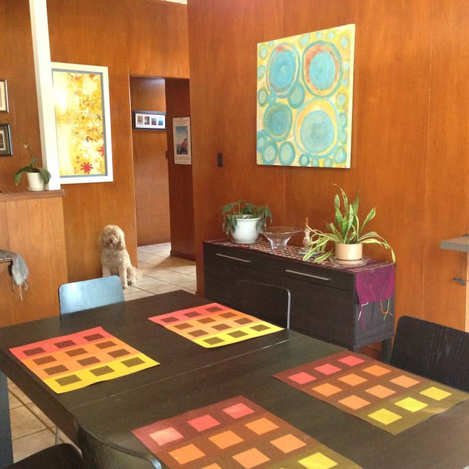 Sunny dining room (dog not included)
