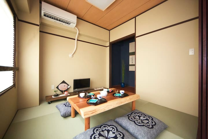 7min Kobe Sta! Traditionl Japanese interior design - Hyōgo-ku, Kōbe-shi - Appartement